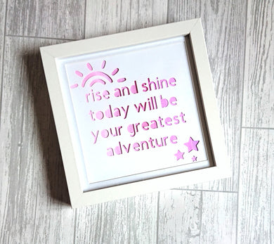 Lexi Loodle Framed Handpainted Pink Rise & Shine Print - Mumma and Mia
