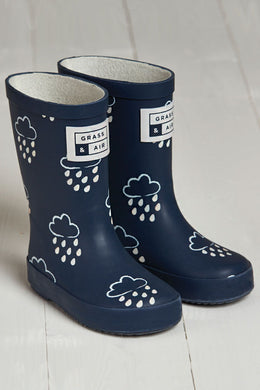 Grass & Air Navy Infant Wellies - Mumma and Mia