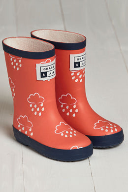 Grass & Air Coral Infant Wellies - Mumma and Mia