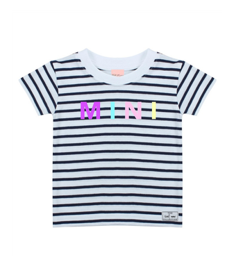 The Tired Mama Collection Pastel Rainbow MINI Striped Short Sleeve Tee - Mumma and Mia