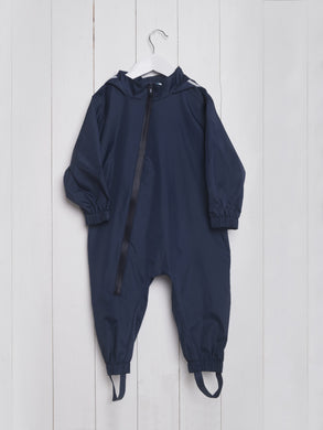 Grass & Air Navy Lined Stomper Suit - Mumma and Mia