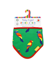 Toby Tiger Parrot Print Dribble Bib - Mumma and Mia