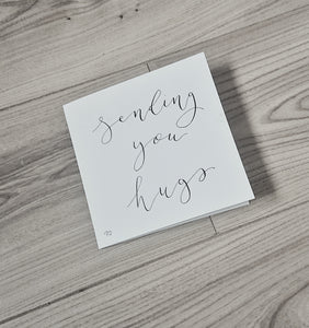 Lexi Loodle Handwritten Sending Hugs Greetings Card - Mumma and Mia