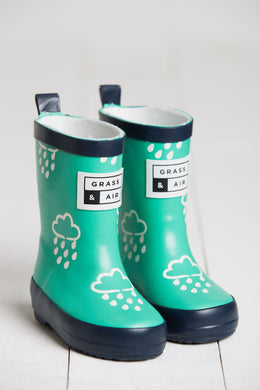 Grass & Air Green Infant Cloud Wellies - Mumma and Mia