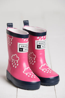 Grass & Air Pink Infant Cloud Wellies - Mumma and Mia