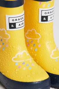 Grass & Air Yellow Infant Cloud Wellies - Mumma and Mia