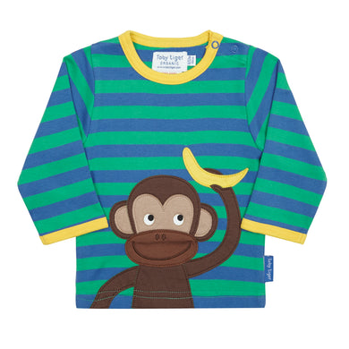 Toby Tiger Monkey with Banana T-Shirt - Mumma and Mia