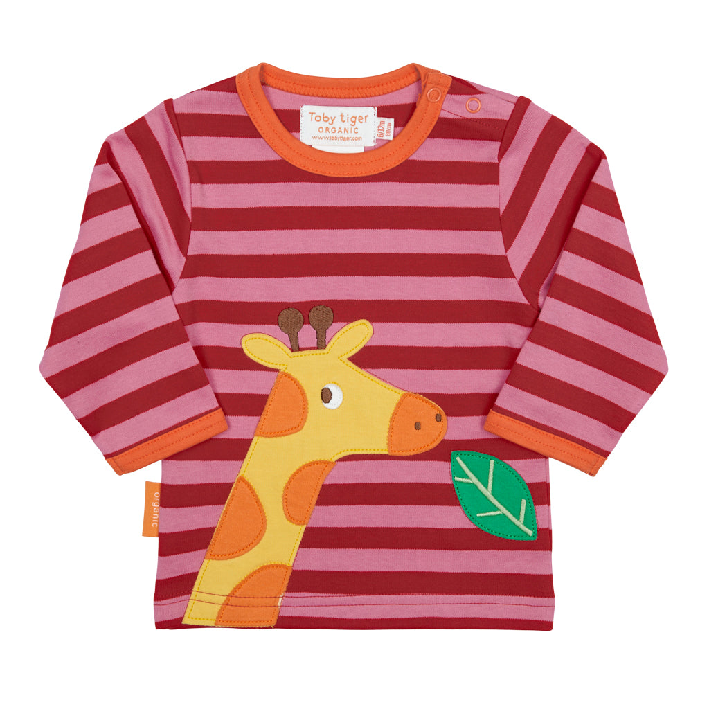 Toby Tiger Giraffe with Leaf T-Shirt - Mumma and Mia