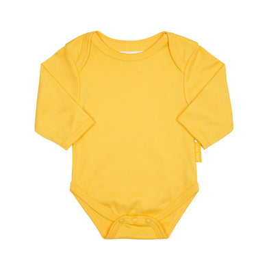 Toby Tiger Plain Yellow Bodysuit - Mumma and Mia