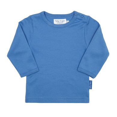 Toby Tiger Plain Blue T-Shirt - Mumma and Mia