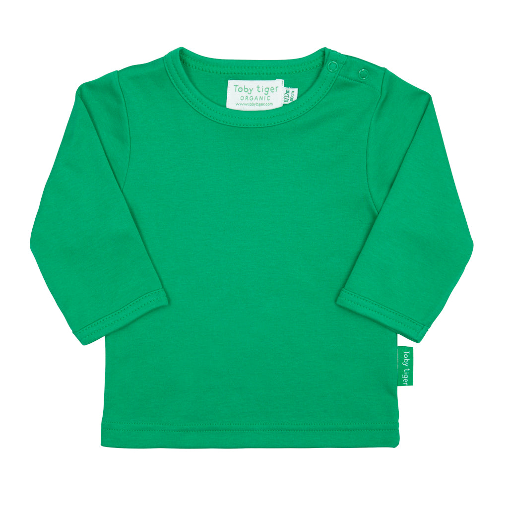 Toby Tiger Plain Green T-Shirt - Mumma and Mia