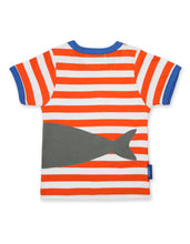 Load image into Gallery viewer, Organic Cotton Orange Shark T-Shirt