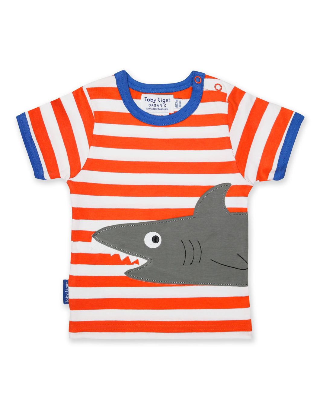 Organic Cotton Orange Shark T-Shirt