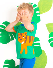 Load image into Gallery viewer, Organic Cotton Green Tiger T-Shirt