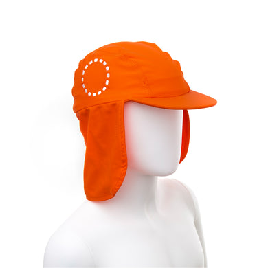 Noma Swimwear Orange & White Legionnaire's Sun Hat - Mumma and Mia