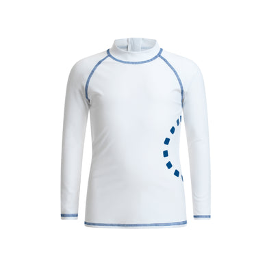 Noma Swimwear White & Blue Long Sleeved Rash Top - Mumma and Mia