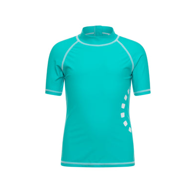 Noma Swimwear Turquoise & White Short Sleeve Rash Top - Mumma and Mia