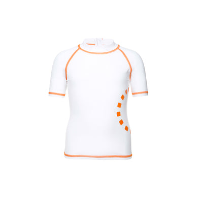 Noma Swimwear White & Orange Short Sleeve Rash Top - Mumma and Mia