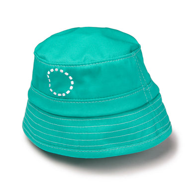 Noma Swimwear Turquoise & White Bucket Sun Hat - Mumma and Mia