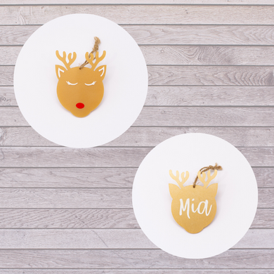 Lexi Loodle Personalised Reindeer Hanging Decoration - Mumma and Mia