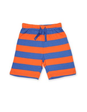 Toby Tiger Orange and Blue Stripe Shorts - Mumma and Mia