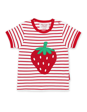 Toby Tiger Strawberry Applique T-Shirt - Mumma and Mia