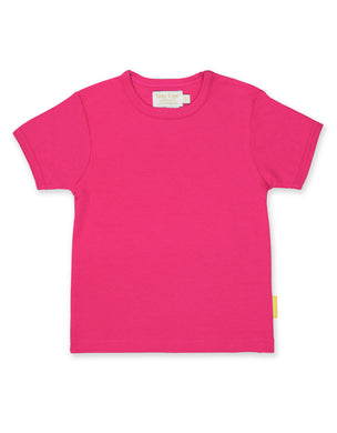 Toby Tiger Plain Short Sleeved Pink T-Shirt - Mumma and Mia
