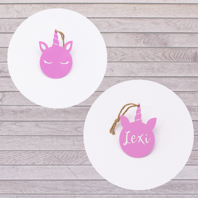 Lexi Loodle Personalised Unicorn Hanging Decoration - Mumma and Mia