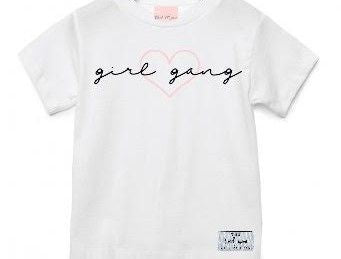 The Tired Mama Collection Girl Gang Kids White Tee - Mumma and Mia