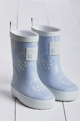 Grass & Air Baby Blue Infant Cloud Wellies - Mumma and Mia