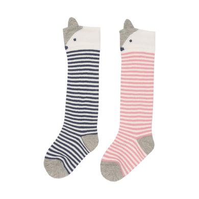 Kite Pink Fox Socks 2 Pack - Mumma and Mia