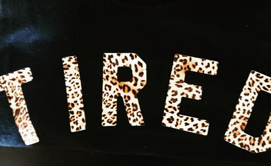 The Tired Mama Collection TIRED Leopard Print Tee - Mumma and Mia