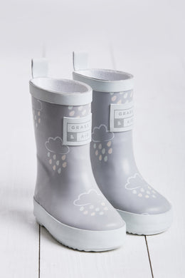 Grass & Air Light Grey Infant Cloud Wellies - Mumma and Mia