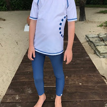 Load image into Gallery viewer, Noma Swimwear Blue & Turquoise Short Sleeve Rash Top - Mumma and Mia