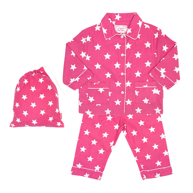Toby Tiger Pink Star Pyjamas - Mumma and Mia