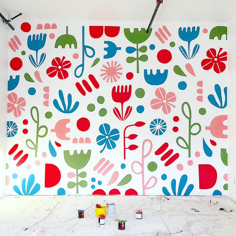 Mural for Fika Sisters Coffee