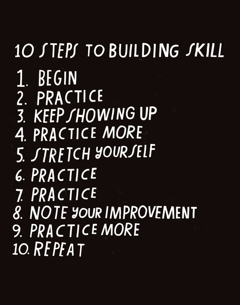 10 Steps to Building Skill - Art Print