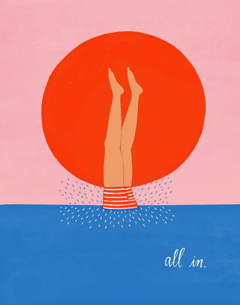 All In - Art Print