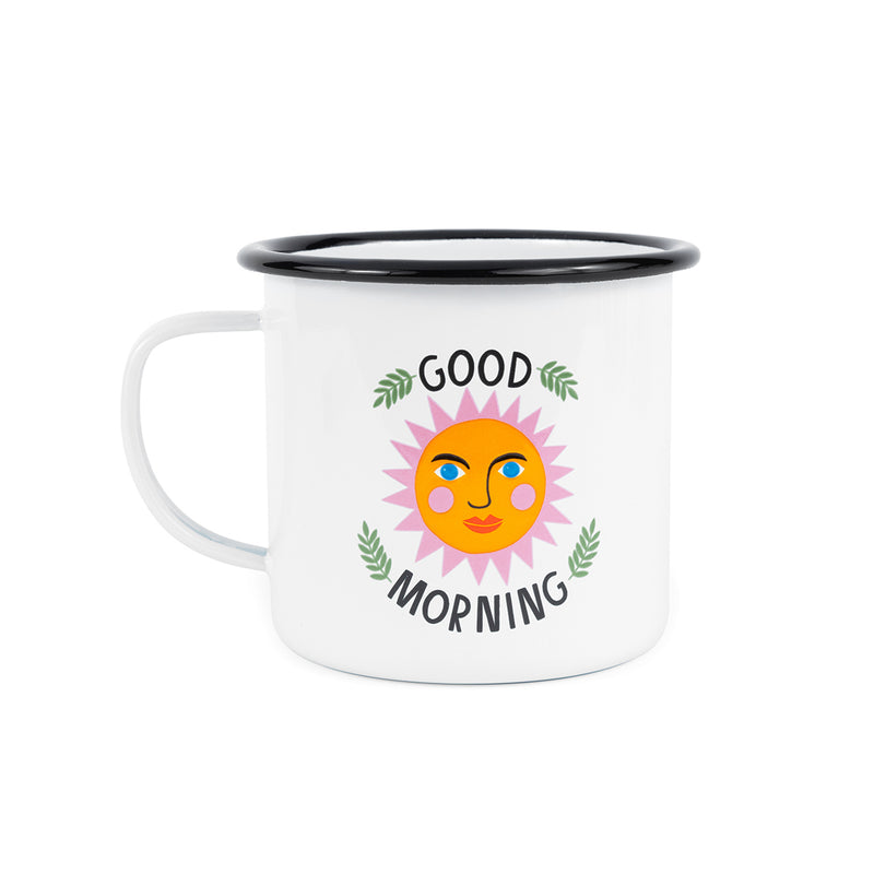 Enamelware Good Morning Mug