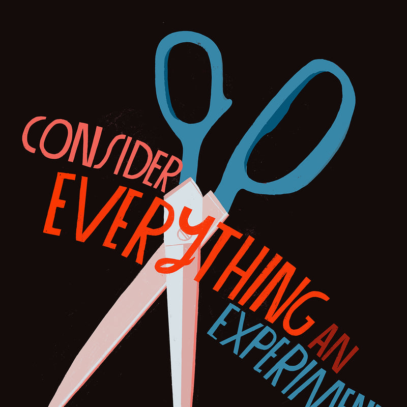 Consider Everything an Experiment - Art Print