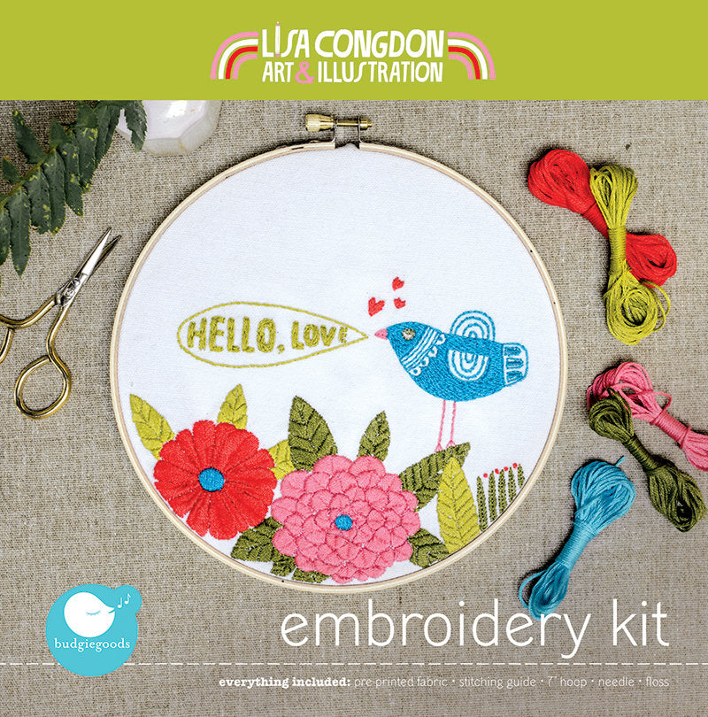 Hello Love Embroidery Kit
