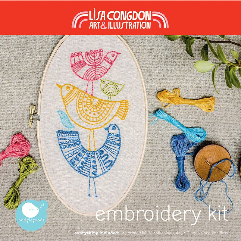 Bird Stack Embroidery Kit