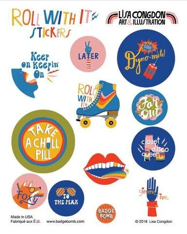 Roll With It Sticker Set