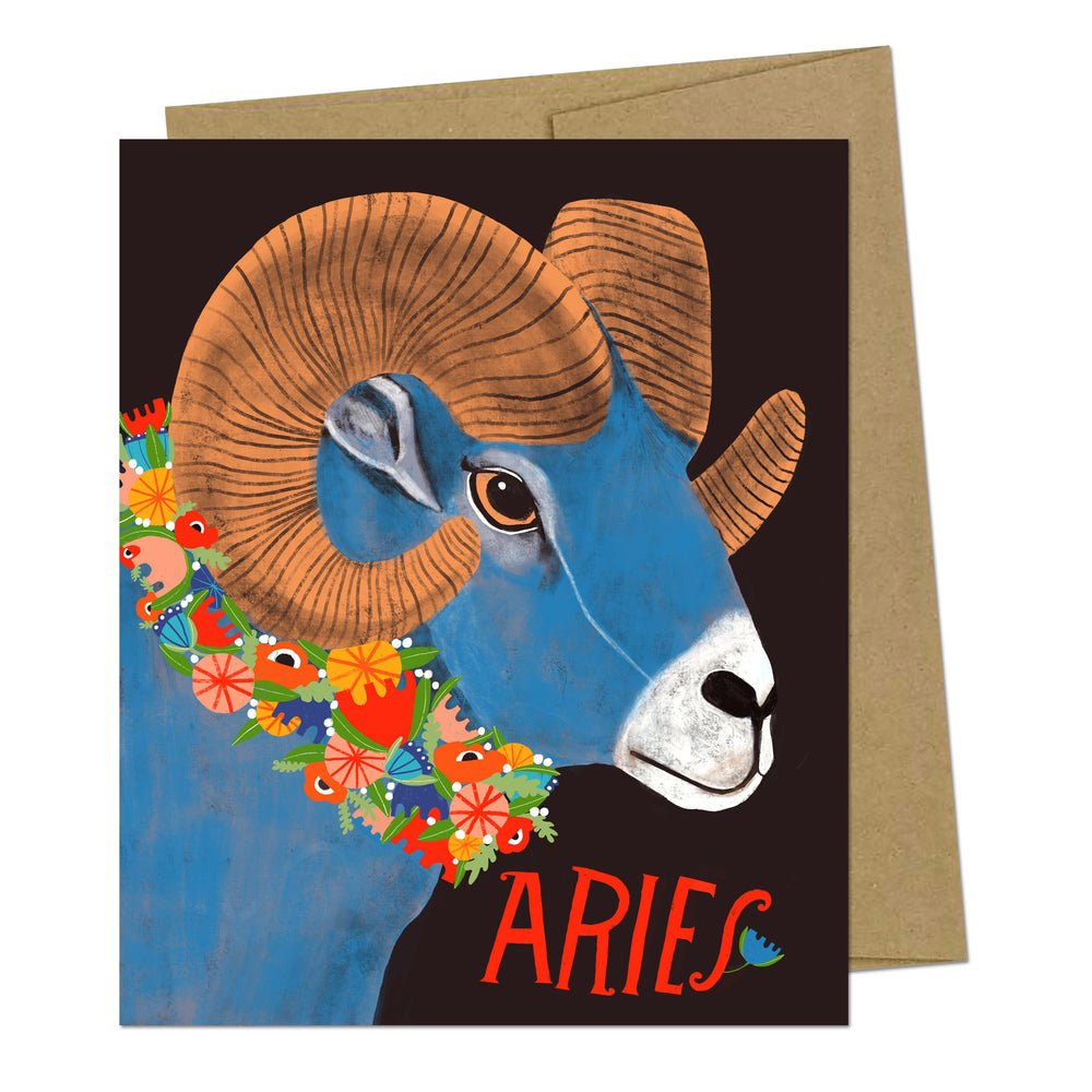 Aries Zodiac Greeting Card