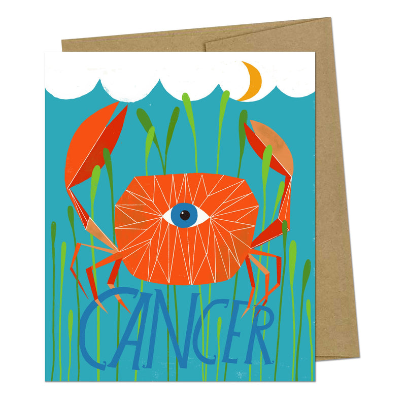 Cancer Zodiac Greeting Card