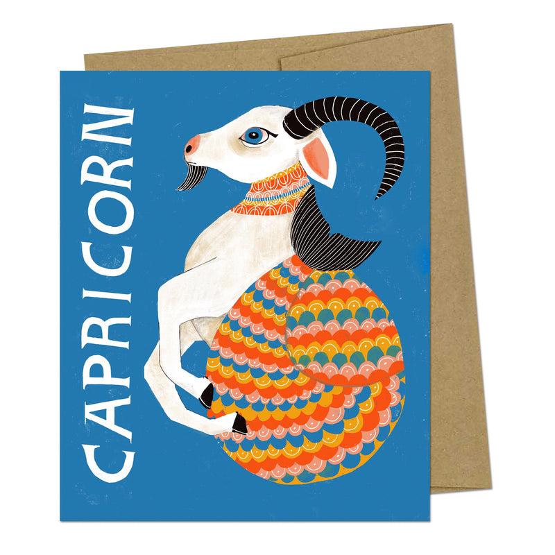 Capricorn Zodiac Greeting Card