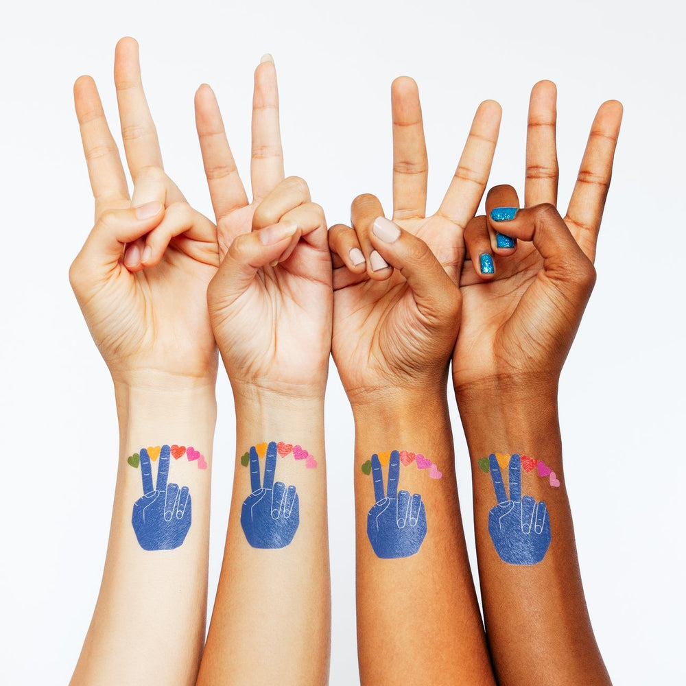 Peace & Love Tattly Temporary Tattoo
