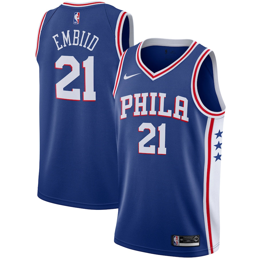 Philadelphia 76ers Royal Blue Team Jersey - Icon Edition