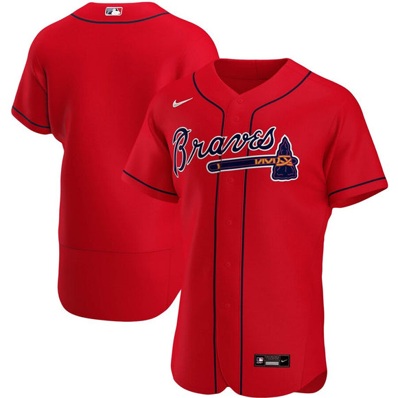 Atlanta Braves Red Alternate 2020 Team Jersey