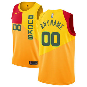 Milwaukee Bucks Yellow Team Jersey - City Edition
